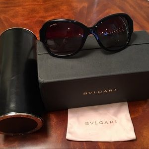 Bulgari Woven Gold Mother of Pearl Vintage Glasses